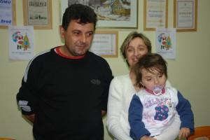 trogodisnja  Josipa Matanovic s roditeljima za boravka u Berlinu