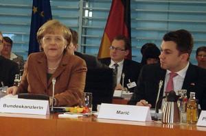 Mijo Maric na konferenciji sa kancelarkom Merkel