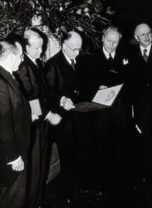 Ruzicka- Nobelpreisverleihung 1940