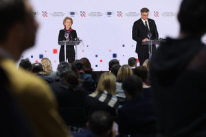 Joint press conference by Prime Minister of Croatia, Andrej Plenkovic and the President of the European Commission, Ursula von der Leye